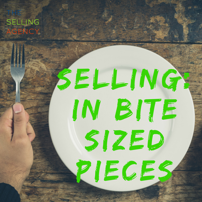 Selling in small increments builds buyer trust