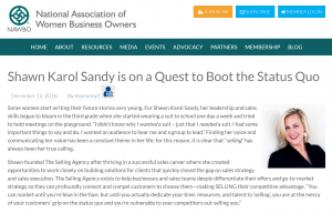 NAWBO NATIONAL Spotlight Shawn Karol Sandy The Selling Agency