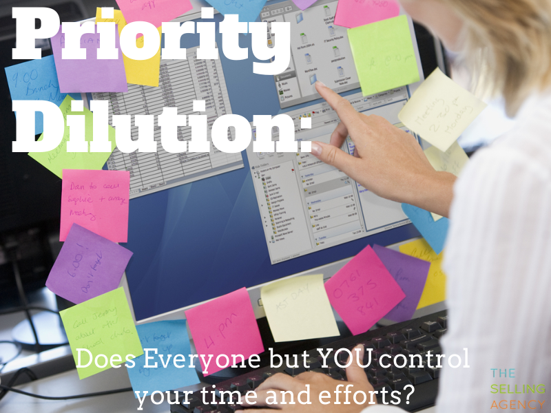 Priority Dilution - There just aren't enough hours in the day to do the important stuff