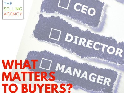 what matters to buyers