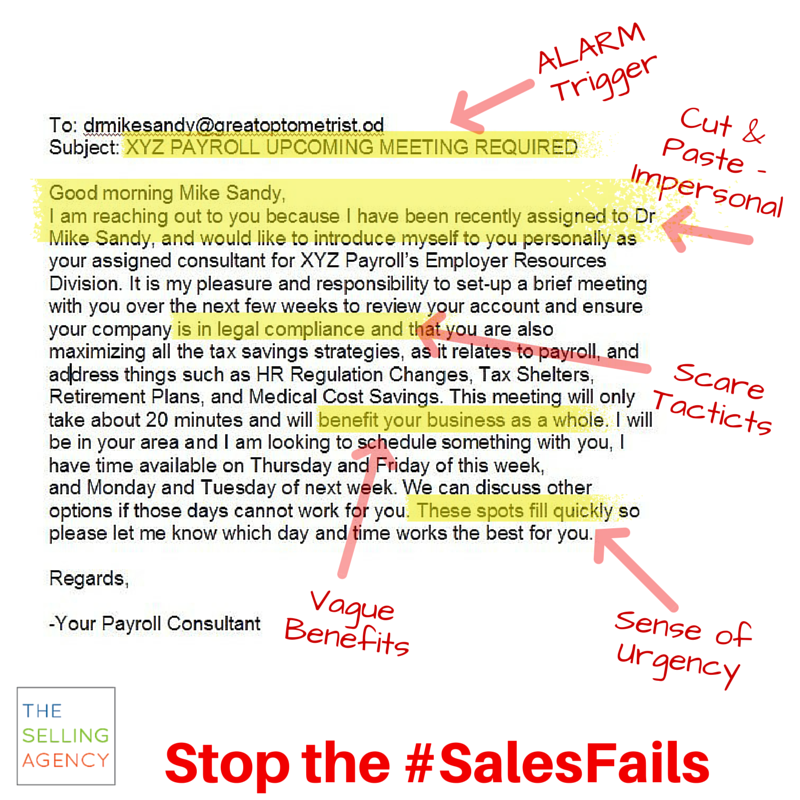 Sales Fails in Emails - Stop the Ugly Sales Tactics