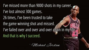 michael-jordan overcomes rejection and failure