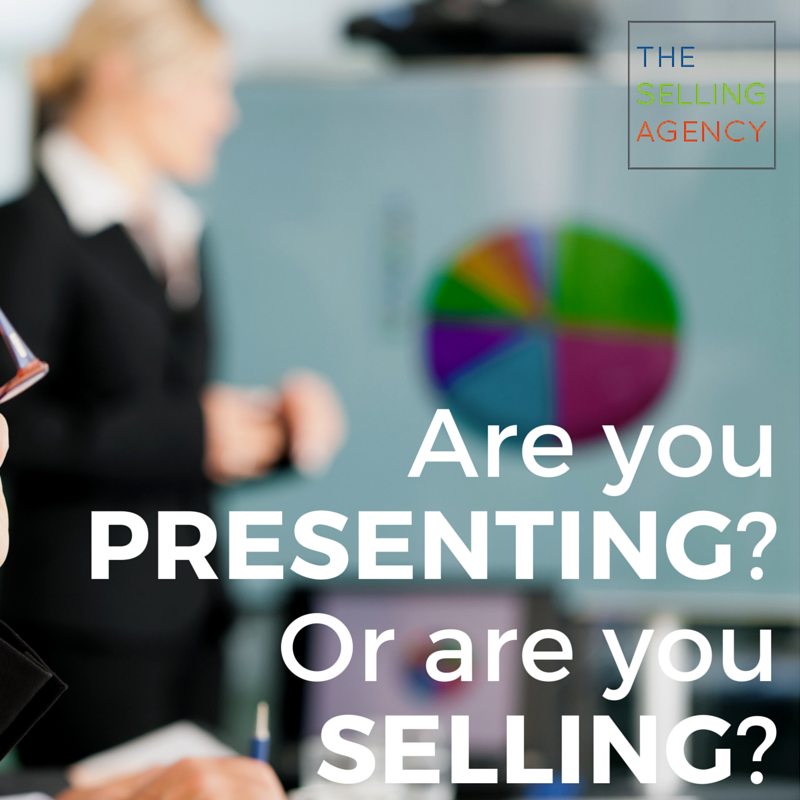 Presenting is not selling, salesfails, people earn business, sales pros