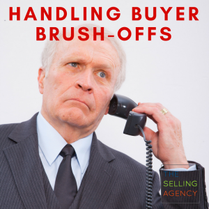 """Dealing with the """"Brush OFF"""" – how sellers respond to buyer push back"""
