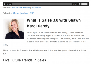 Sales Babble Podcast - 5 Future Trends in Sales with Shawn Karol Sandy of The Selling Agency