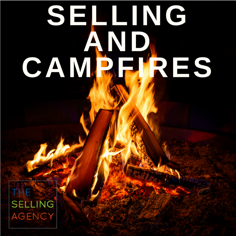 Selling and Campfires-new business development-sales-new sales pros