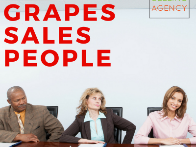 beware of sour grapes salespeople