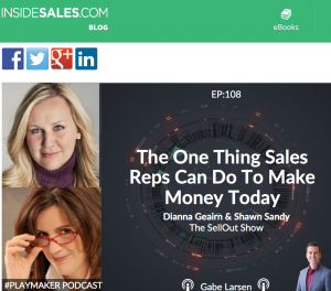 InsideSales Playmaker SellOut Show One Thing Sales Reps Can Do to Make Money