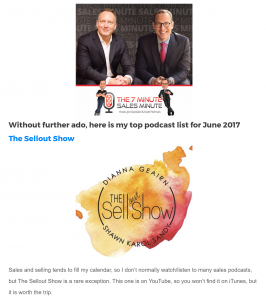 30 minute sales coach Top Podcast The Sellout Show