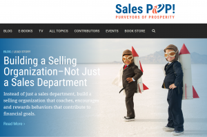 Sales Pop Building a Selling Organization NOT just a Sales Department by Shawn Karol Sandy