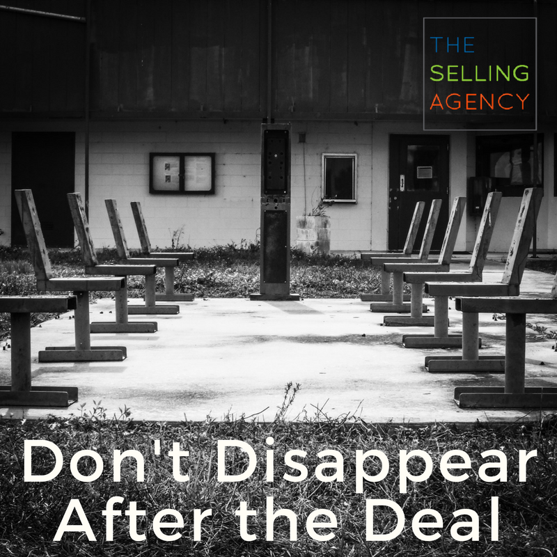 Don't Disappear After You Close the Deal