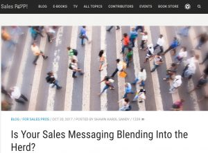 SalesPop Pipeliner CRM Guest Shawn Karol Sandy - Is your messaging blending into the heard