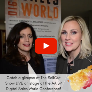 Shawn Karol Sandy - Fun with fellow Sales Badass, Dianna Geairn: The SellOut Show LIVE @ AAISP Digital Sales World Conference in San Francisco