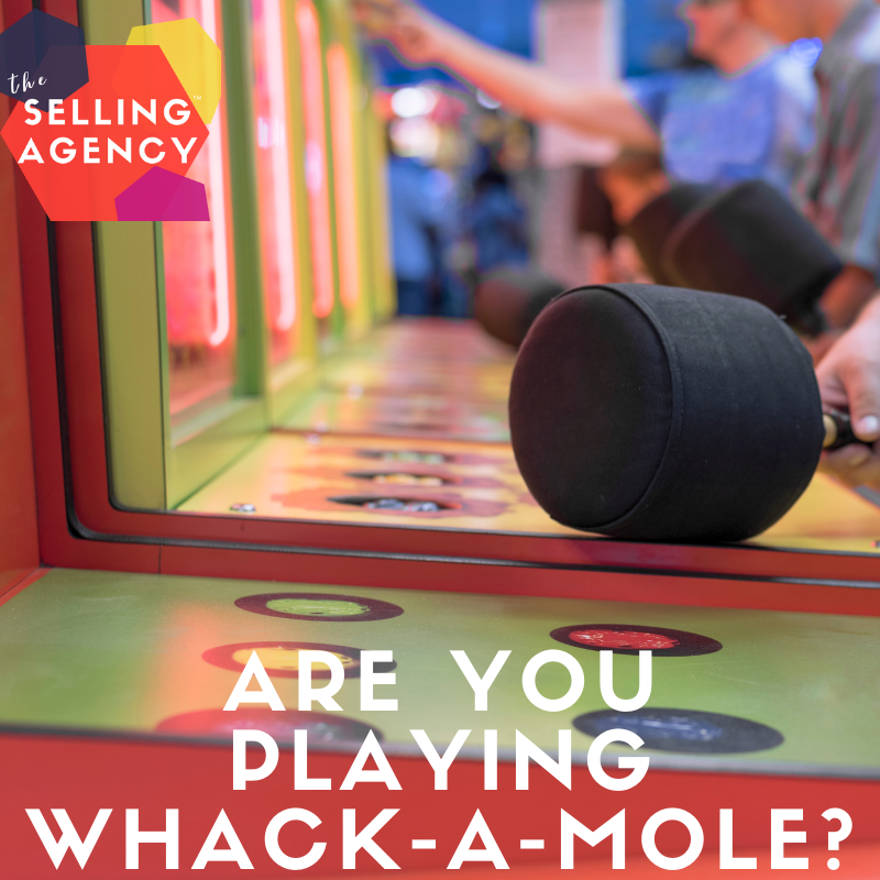 Are you playing BUSINESS WHACK A MOLE?