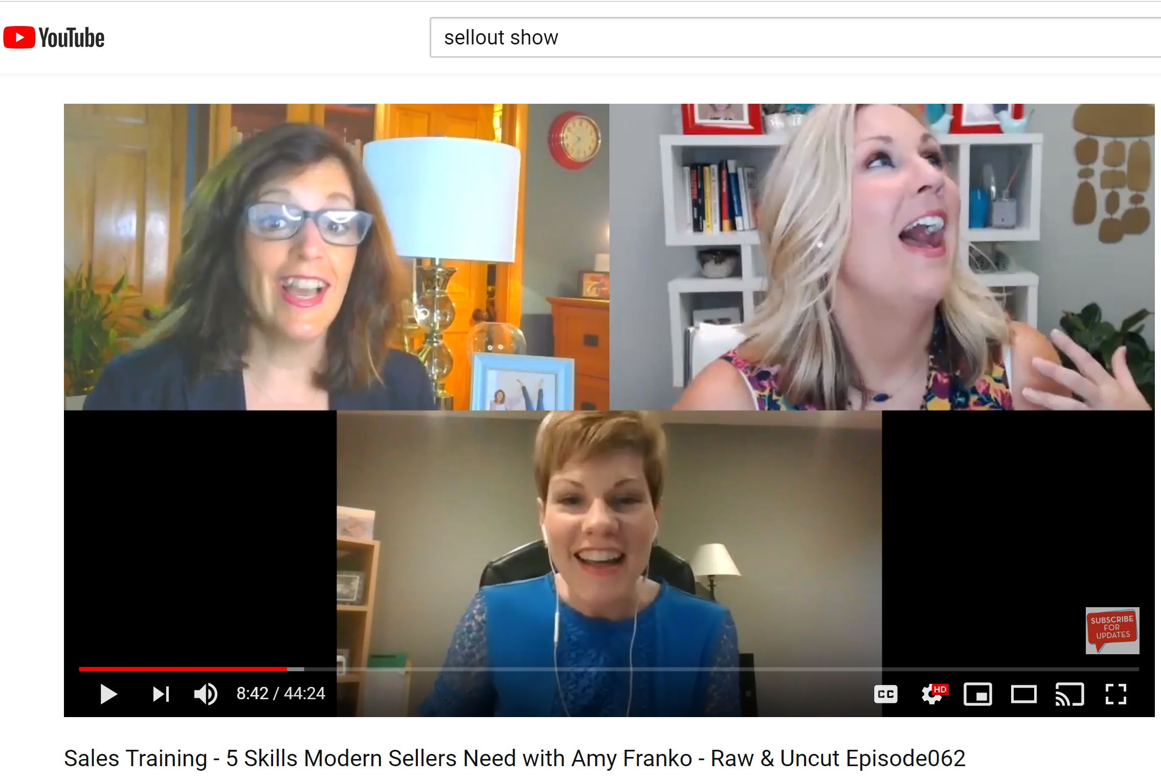 SellOut Show - 5 Skills Modern Sellers Need with guest Amy Franko
