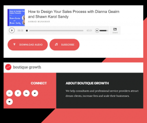 Boutique Growth: How to Design Your Sales Process with Shawn Karol Sandy and Dianna Geairn