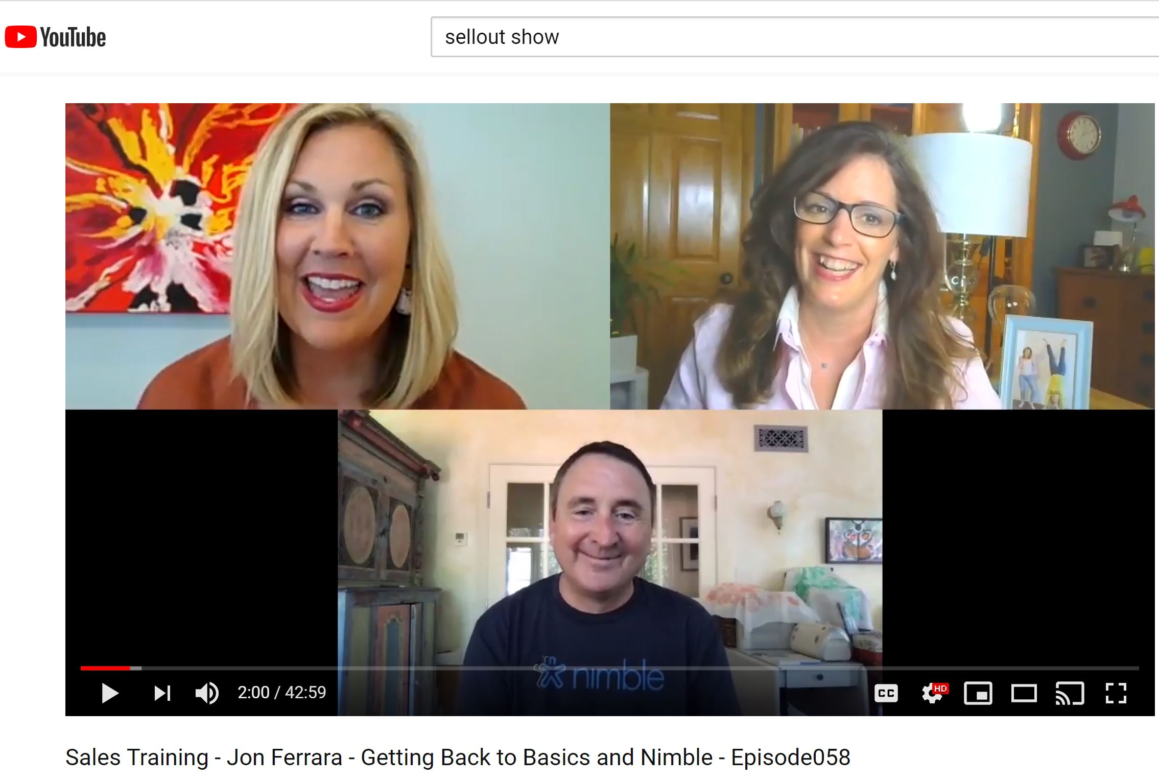 SellOut Show Nimble Guest Jon Ferrara Gets Back to Basics in Sales