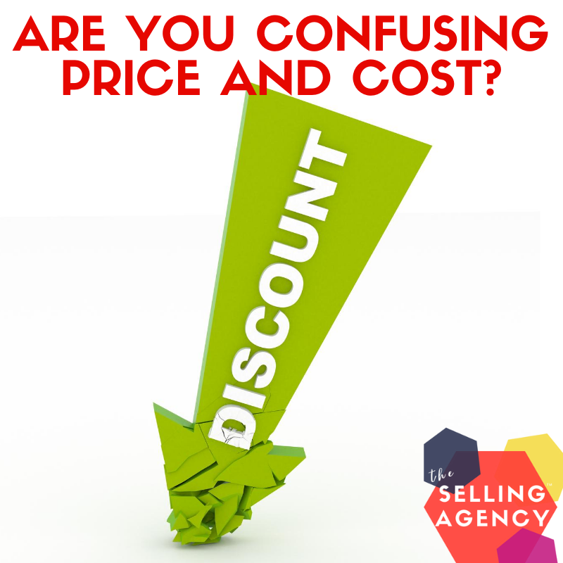 Are you confusing PRICE and COST?