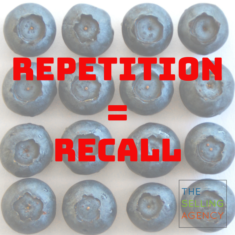 The power of repetition in Sales? Memory and Recall