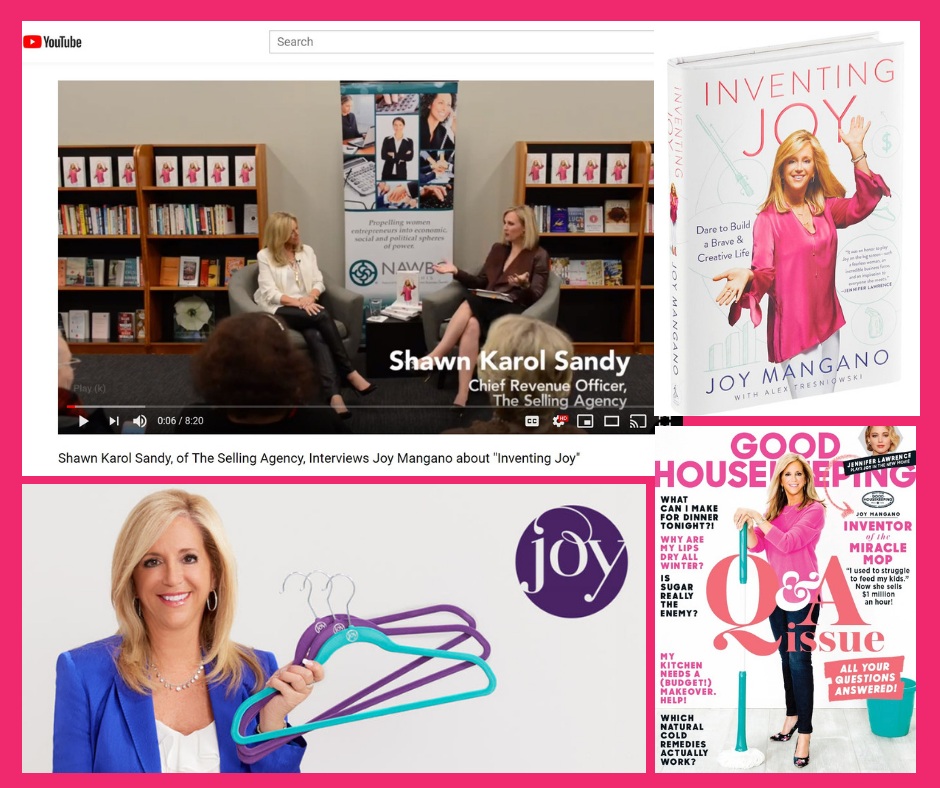 Joy Mangano Author of Inventing Joy Interviewed by Shawn Karol Sandy of The Selling Agency