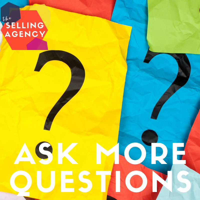 Salespeople are not asking enough questions