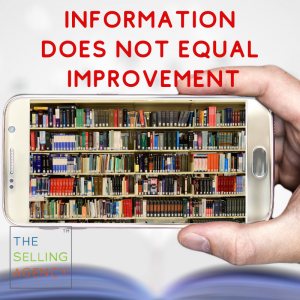 Sales Improvement needs more than information